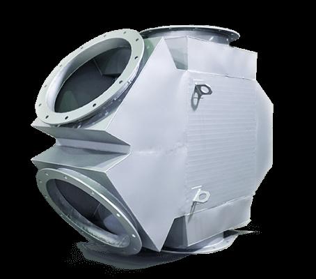 Оребренные пластинчатые газовоздушные рекуператоры тепла