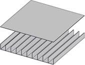 Оребренная панель совмещается с такой же панелью (крышкой)