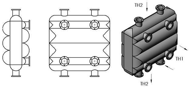 Многоходовой теплообменник типа ДСТ